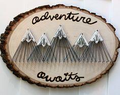 Mountains String Art