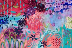 Carrie Schmitt. Spirit Garden 24x36 Collaboration with Megan Jefferson. In private collection.