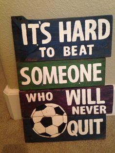 Soccer pallet sign