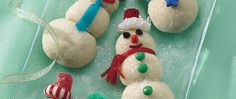 Gather kids and kids-at-heart for making and baking tasty snowmen.