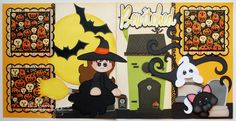 BLJ Graves Studio: Bewitched Halloween Scrapbook Pages