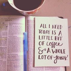 Coffee and Jesus // This needs to be on my coffee mug wall. Not to mention it supports missions.