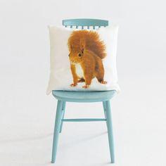Kissenbezüge - Kissenbezug Eichhörnchen - ein Designerstück von Makalulu-shop bei DaWanda
