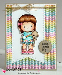Swiss Pixie Lucy with Teddy, C.C. Cutters Make-a-Tag #6 Die, AmyR Adoring You Sentiments, Doodlebug Hello Sunshine 6x6