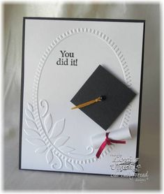 simple and clean #graduation card For My handmade greeting cards visit me at My Personal blog: http://stampingwithbibiana.blogspot.com/