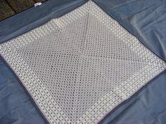 Crochet baby blanket baby boy blanket car seat by Bbabscrochet