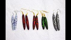 Multicoloured Polymer Clay Torpedo Bead Earrings