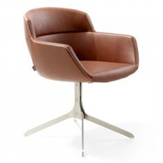 Buy Mood Relax Armchair - 4 Legged, Strip Base from Artifort. In 2014 Artifort brought you Mood by René Holten. A sleekly-upholstered bucket seat with f. Milan Furniture, Home Furniture, Furniture Design, Side Chairs, Dining Chairs, Dining Area, Dining Room, Swivel Club Chairs, Office Seating
