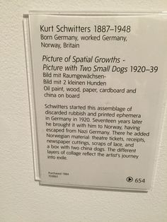 Schwitters assemblage description