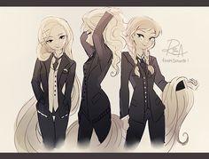 Elsa, Anna and Rapunzel