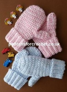 pfc121-Children's Mitts crochet pattern