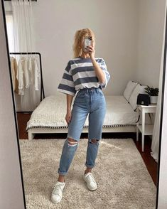 Casual College Outfits, Uni Outfits, Teen Fashion Outfits, Outfits For Teens, Look Fashion, Cute Going Out Outfits, Cute Summer Outfits, Cute Casual Outfits, Stylish Outfits