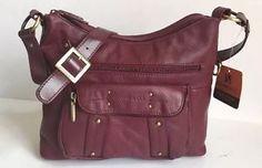 Stone Co Burgundy Wine Colored Leather Shoulder Purse Bag | eBay