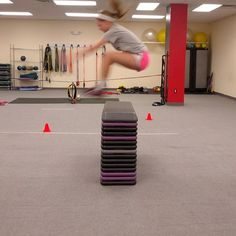just a typical day at the Barry Lovelace Athlete Training academy! Kristen B killin the jumps over the bench. Can you say 'Springing!'??  Volleyball players jump higher, hit harder and react with lighting quickness training this way.  http://www.drillnkills.com http://www.barrylovelace.com