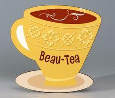 Tea Cup Coaster/Beau-Tea (Set of 4)