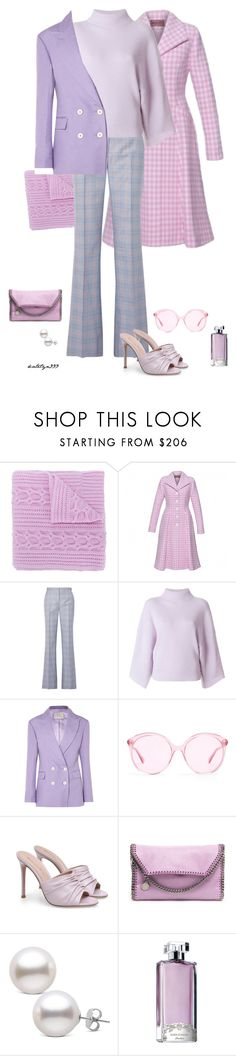 """Silence ..."" by katelyn999 ❤ liked on Polyvore featuring N.Peal, Lena Hoschek, Gabriela Hearst, Petar Petrov, Hillier Bartley, Gucci, STELLA McCARTNEY and Guerlain"