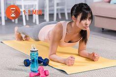 Fitness Workout Plans to Transform Your Body in 1 Month Fitness Workout For Women, Fitness Diet, Health Fitness, At Home Workout Plan, At Home Workouts, Workout Plans, Combattre La Cellulite, Belly Fat Workout, Health Motivation