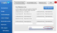i-talk24 Hier bauen Sie die Links zu Ihren WEB-Seiten auf. Details: http://www.i-talk24.com