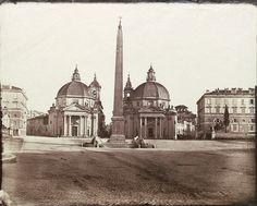 View of Piazza del Popolo, Rome 1860 (ca) Albumen print
