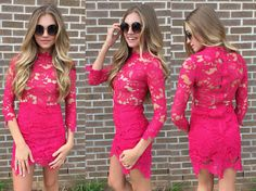 Red lace #swoonboutique