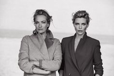 Tatjana Patitz and Nadja Auermann. Photo: Peter Lindbergh for 'Vogue' Italia.