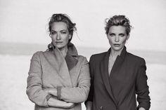 Tatjana Patitz and Nadja Auermann. Photo: Peter Lindbergh for 'Vogue' Italia.