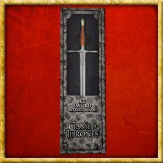 Game of Thrones Ice Sword, Game Of Thrones Merchandise, Eddard Stark, Daenerys Targaryen, Fantasy, Lettering, Material, Art, Crests