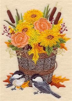 Machine Embroidery Designs at Embroidery Library! - Chickadees