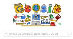 Google Doodle vous rappelle que c'est la rentrée des classes Les Doodle, Google Doodles, Holidays And Events, Back To School