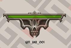 Life bar game asset..