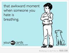 So awkward...