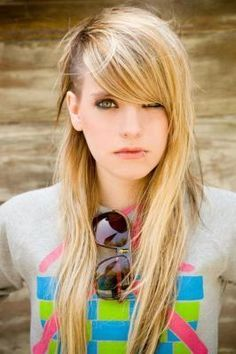 undercut hairstyle women long hair bangs - Google Search