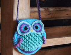 Crochet bag pattern, crochet owl pattern, crochet purse pattern, crochet…