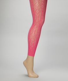 Take a look at this Vibrant Rose Snakeskin Footless Tights by Betsey Johnson Legwear on #zulily today!