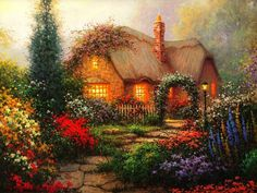 Love cottages, especially with an english garden. Description from pinterest.com. I searched for this on bing.com/images