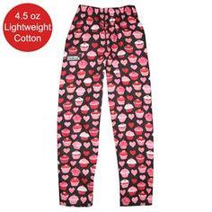 Heart cupcake chef pants...YES!!!!