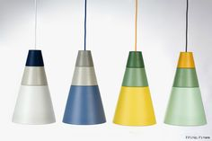 Ili Ili Pendant Lamps are wonderful customizable suspension lamps whose colored and B&W elements can be easily rearranged for tons of options.