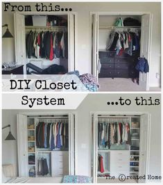 Diy Closet System Walk In Organization Ideas Storage