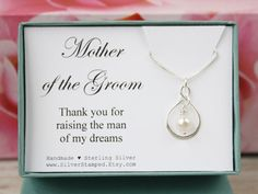 Gift for Mother of the Groom gift thank you for by SilverStamped