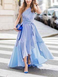 Pink Chiffon V-neck Layered Ruffle Trim Chic Women Maxi Dress Long Dress Fashion, Women's Fashion Dresses, Casual Dresses, Summer Dresses, Dress Long, Summer Maxi, Summer Evening, Casual Summer, Summer Outfits