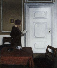 Ida reading, 1909  Danish painter Vilhelm Hammershøi (1864-1916)  via eclektic