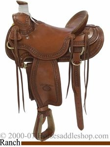 """15"""" 15.5"""" 16"""" 17"""" Arbuckle Wade Ranch Saddle by Billy Cook FQHB 2182      Mouse Over Main Image to Zoom        Item Number: bi2182  Reg Price:$1,837.80  Sale Price:$1,531.50"""