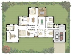 The Cloncurry boasts 37 squares of smart design for acreage living in new home designs from one of Australia's leading home builders. Dream House Plans, House Floor Plans, My Dream Home, Home Design Floor Plans, Plan Design, House Blueprints, Sims House, New Home Designs, House Layouts