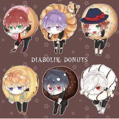 diabolik lovers chibi donuts - Buscar con Google: