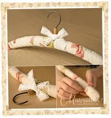 if i have plenty of time Diy Clothes Hangers, Decoupage, Padded Hangers, Shabby Chic Fabric, Coat Hanger, Diy Box, Lace Flowers, Sewing Patterns Free, Fabric Covered
