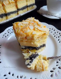 Excellent cake Makowo-lawyers - Recipe - Sweet Home Polish Desserts, Polish Recipes, My Favorite Food, Favorite Recipes, Good Food, Yummy Food, Brownie Cake, Homemade Cakes, Food To Make