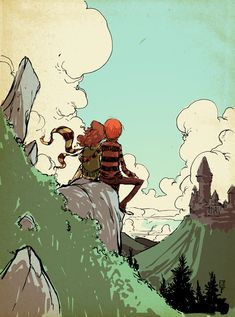 Ron and Hermione Warm Up by skottieyoung.deviantart.com