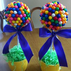 Candy centerpieces ~ use could also use gumdrops