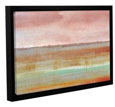Landscape Autumn by Cora Niele Floater Framed Graphic Art on Wrapped Canvas
