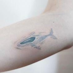 WEBSTA @ tattooist_baka - breathing whale {handpoked}---------------------------------------...#tattoo #tattooed #handpoke #handpoked #handpokedtattoo #stickandpoke #sticknpoke #handpushed #smalltattoo #littletattoo #handpushedtattoo #machinefreetattoo #타투 #핸드포크 #핸드포크타투 #이태원타투 #tattooist_baka #타투이스트박하